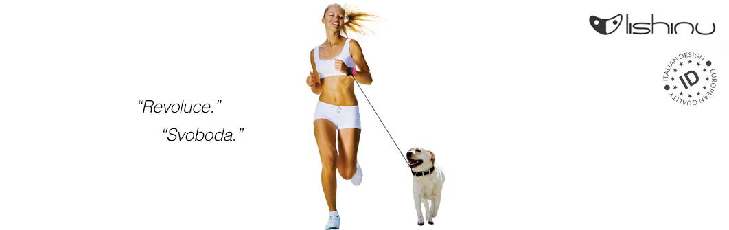Hands-free vodítka Lishinu Light Lock. Běhání a sportování se psem.
