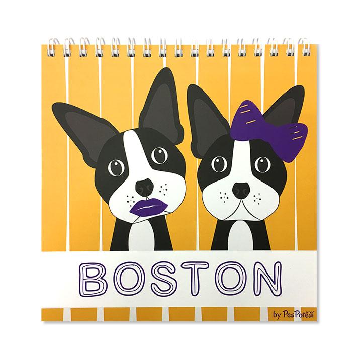 "Poznámkový blok Bostonský teriér ""Boston"""
