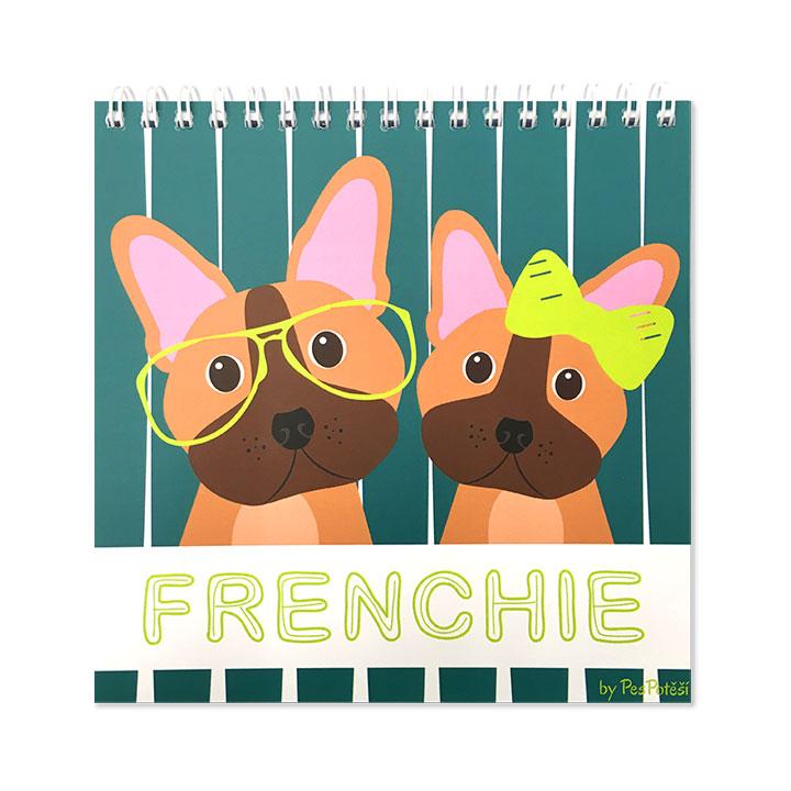 Poznámový blok Francouzský buldoček