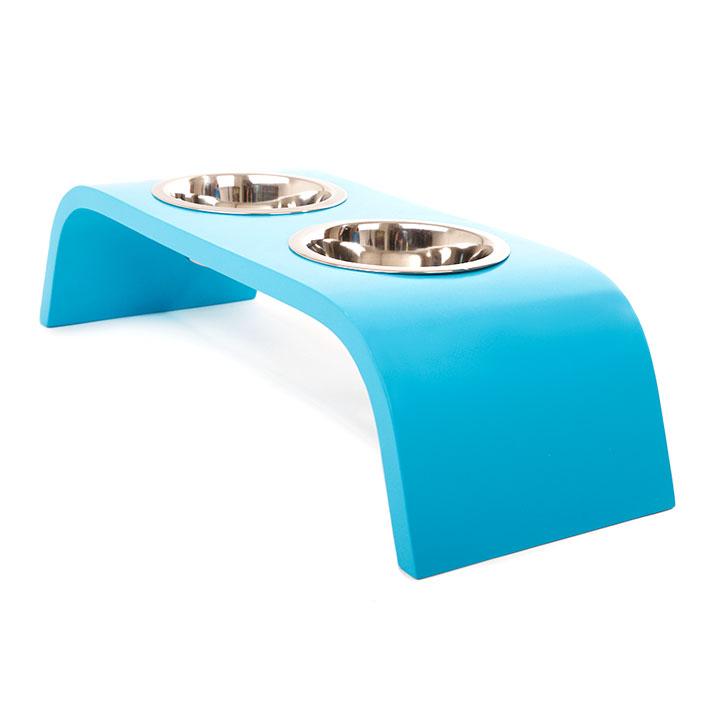 Miska Duo Blue dřevěná miska pro psa