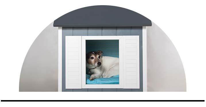 Luxusní dřevěné domečky pro psy