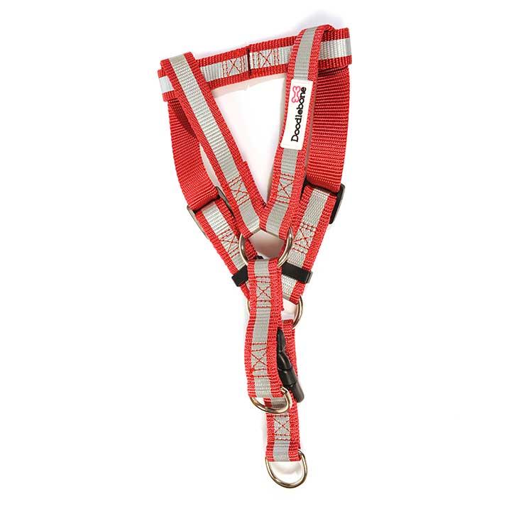 Reflexní lehký postroj Red pro psy pre psov Doodlebone