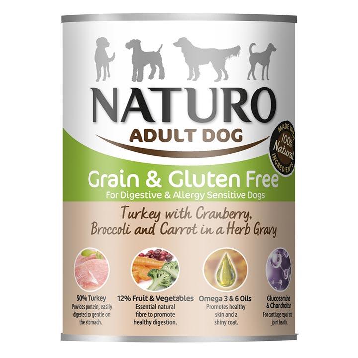 NATURO Grain & Gluten Free Krůta s brusinkami konzerva pro psy
