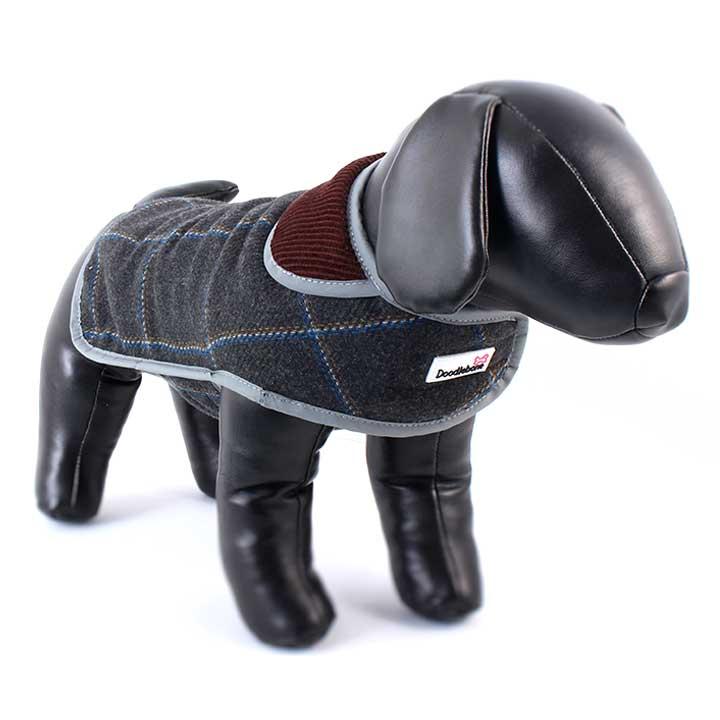 Kabát Tweedie Grey pro psy pre psov Doodlebone