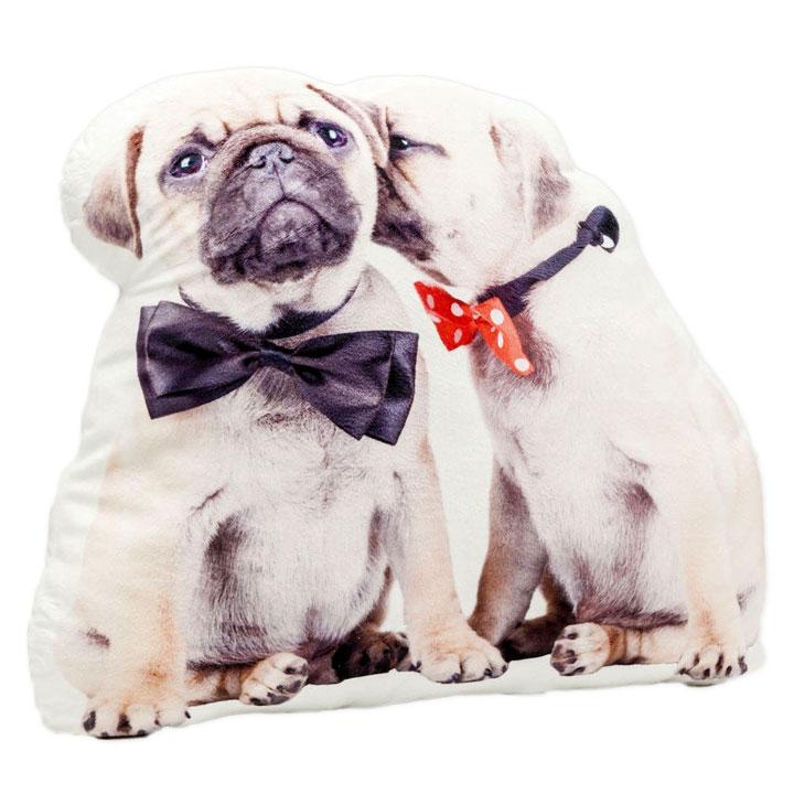 Polštář Brotherly Love mops pug